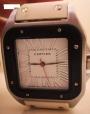 CARTIER * Relógio de senhora com bracelete branca * CARTIER