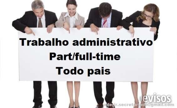 Trabalho de secretariado m/f part/full-time