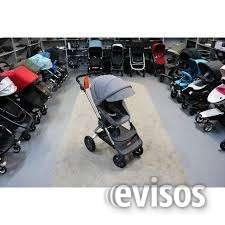 Marca new stokke crusi stroller com assentos veiculares para as crianças.