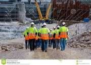 Trabalhadores engenheiro civil, necessárias para construção